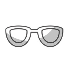 Eye glasses isolated icon vector