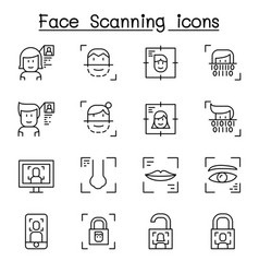 face scanning face recognition and biometric vector image