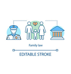 family law concept icon vector image