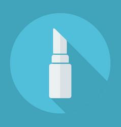 Flat modern design with shadow lipstick vector