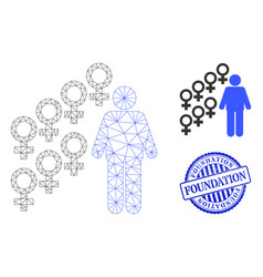 Foundation grunge rubber imprint and web network vector