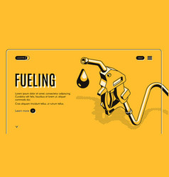 Fueling stations network website template vector