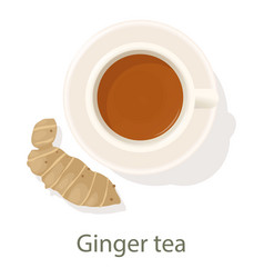 Ginger tea icon cartoon style vector