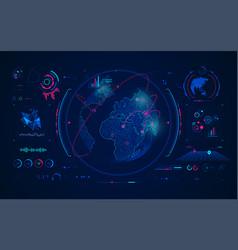 globalnetwork vector image