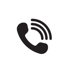 handset with waves call icon vector image