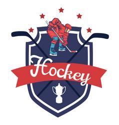 hockey logo isolated on white background vector image