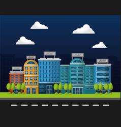 Hotel building service vector