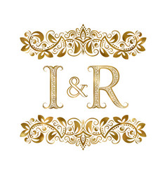 I and r vintage initials logo symbol the letters vector