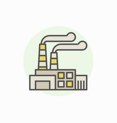 Industrial building colorful icon vector