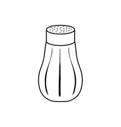 isolated salt shaker vector image
