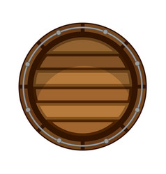 isolated wooden beer barrel icon vector image