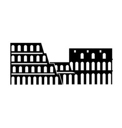 Italy coliseum landmark vector