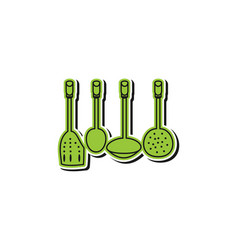 kitchen tool logo design inspiration isolated on vector image