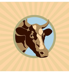 LABEL COW COLOR vector image
