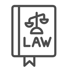 Law book line icon constitutional law vector