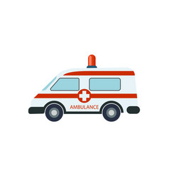 medical ambulance car isolated vector image