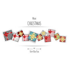 Merry christmas with lovely gift box on white vector