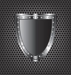 Metal textures and shield vector
