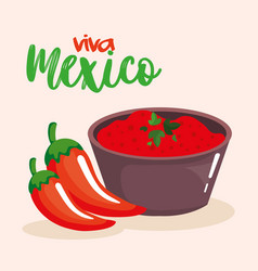 mexican chili pepper sauce vector image