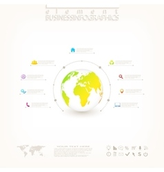 Modern 3d infographic design with place for your vector image