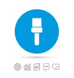 Paint brush sign icon artist symbol vector