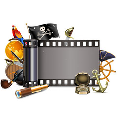 pirate film vector image