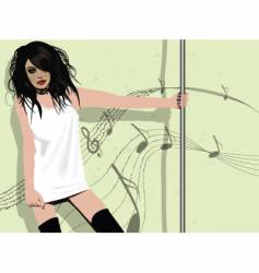 poll dancer vector image