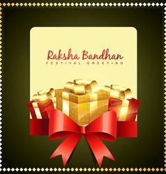 Raksha bandhan greeting vector