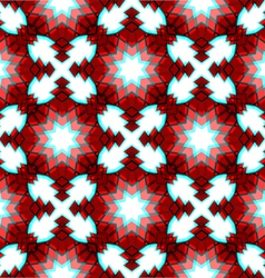 Red festive christmas star seamless pattern vector image