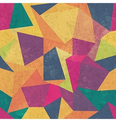 seamless grunge colorful triangles pattern vector image