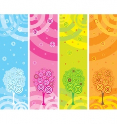 set four seasons banners vector image