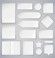 Set of White Paper Sheets Mock Ups and Banners vector image