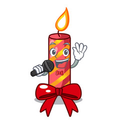 Singing christmas candle combined with pita vector