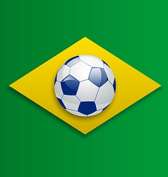 Soccer ball concept for Brazil 2014 football vector image