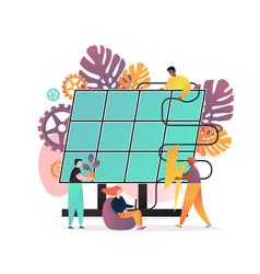 Solar energy concept for web banner vector