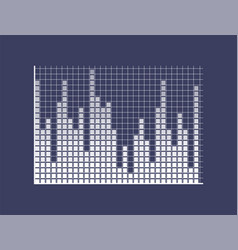 sound bars composed of squares on coordinates vector image