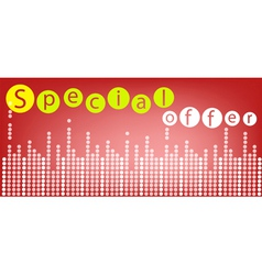 Special Offer Background for Special Price Product vector image