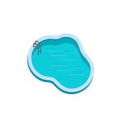swimming pool icon design template vector image