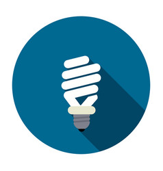 symbol of energy saving lamp vector image