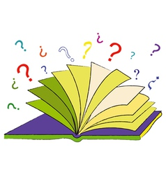 The Book of Questions vector image