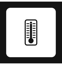 Thermometer indicates high temperature icon vector image