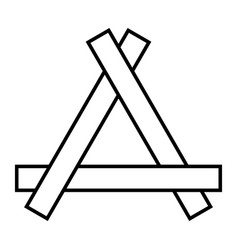 Triangle of boards logo repair from vector