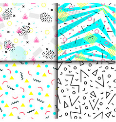 Universal memphis 80-90 seamless pattern endless vector