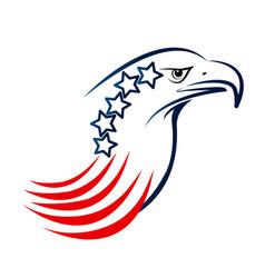 usa eagle pride stars and stripes symbol vector image