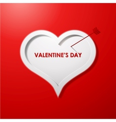 Valentines day card concept background vector image