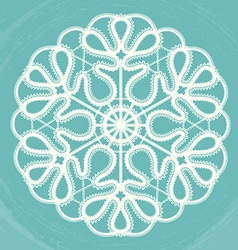 Victorian style decorative circle design vector image