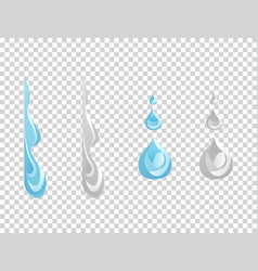 water and drop icon - blue wave and water splashe vector image