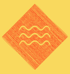 waves sign red scribble icon vector image vector image