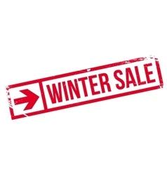 Winter sale stamp vector