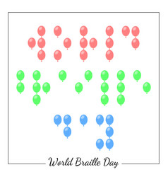 world braille day social event concept for blind vector image
